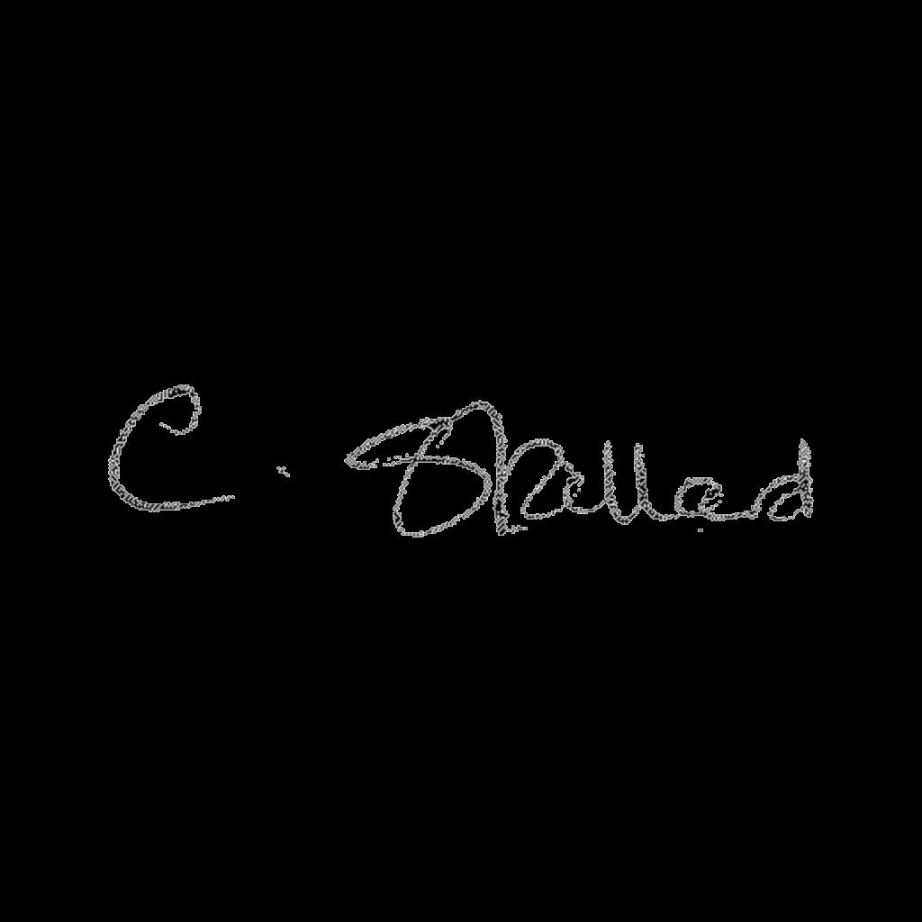 Signature for F C Stallard