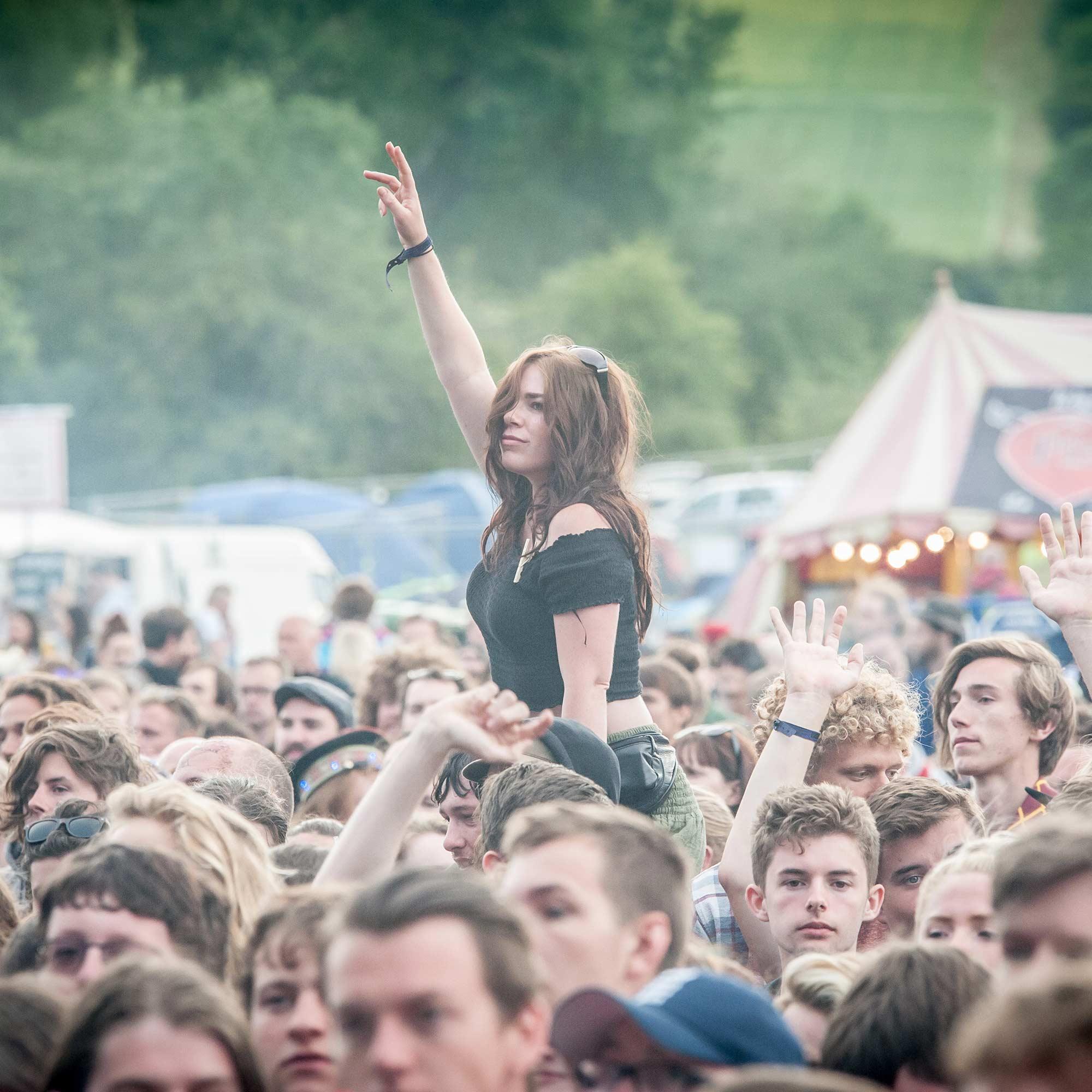 festival crowd outside