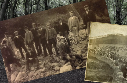 Historical Photo of Men on Leckhampton Hill
