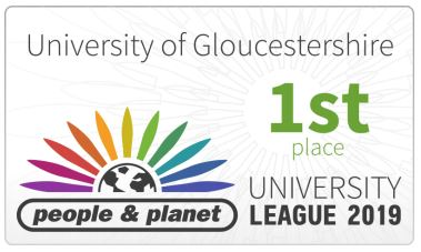 University of Gloucestershire - 1st Place - People and Planet University League 2019
