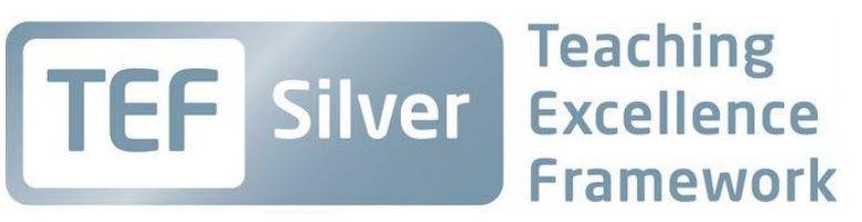 TEF Silver - Teaching Excellence Framework