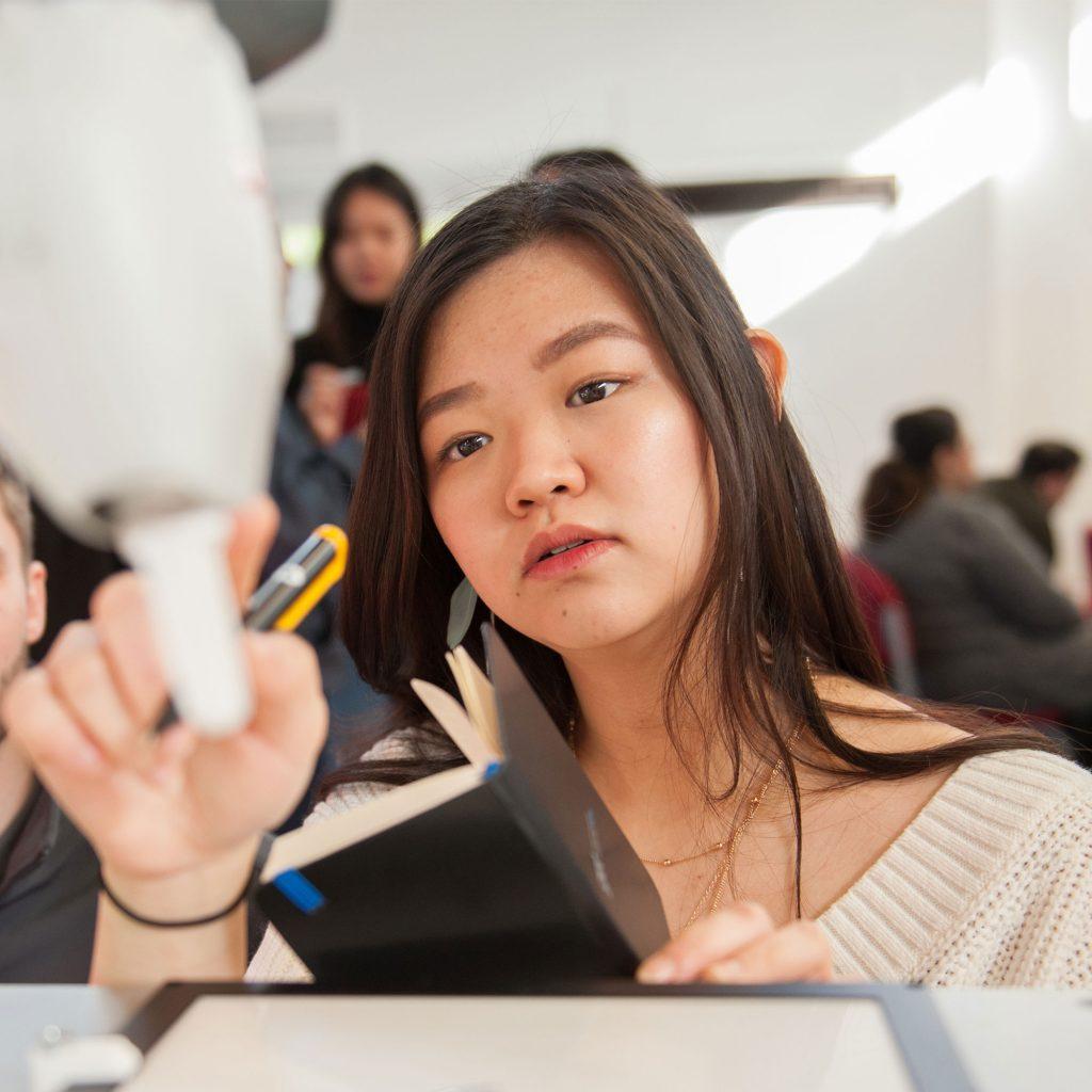 Student analysing