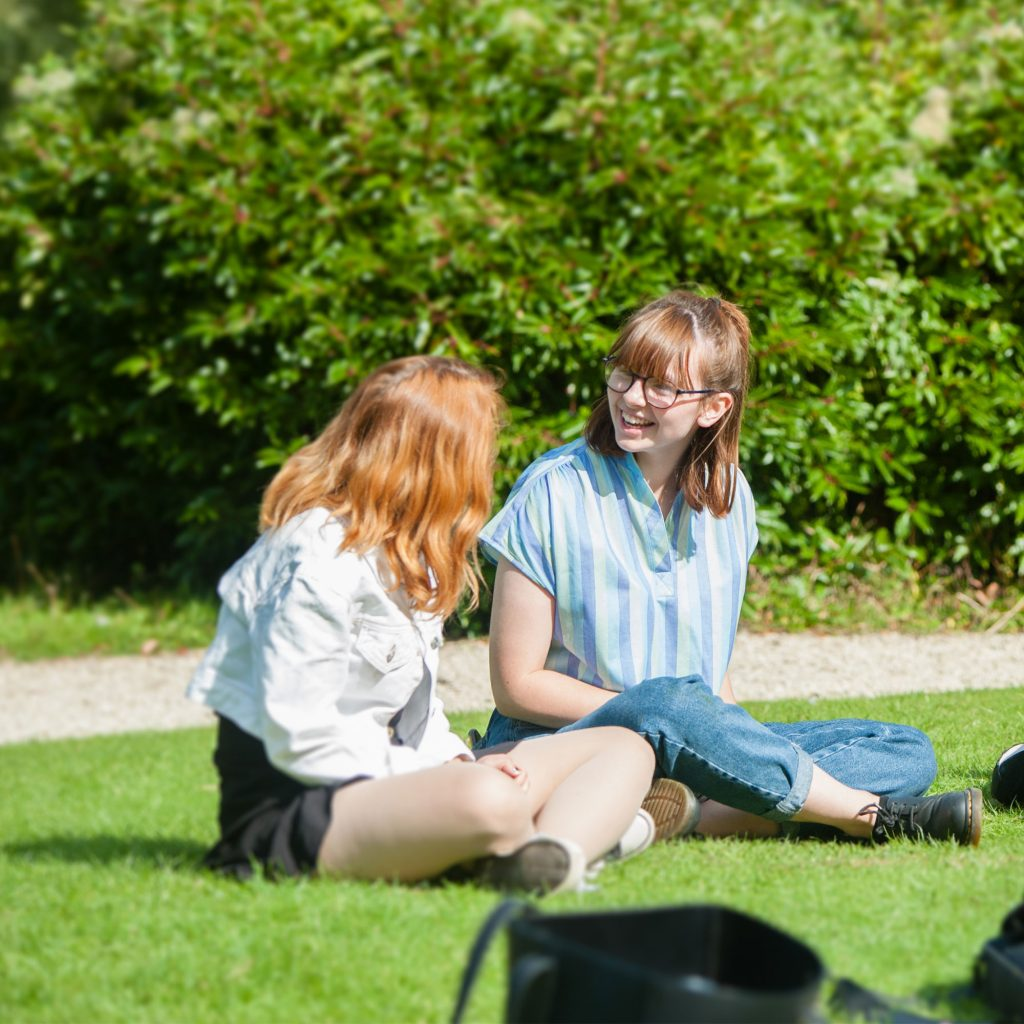 Students talking on Park Campus