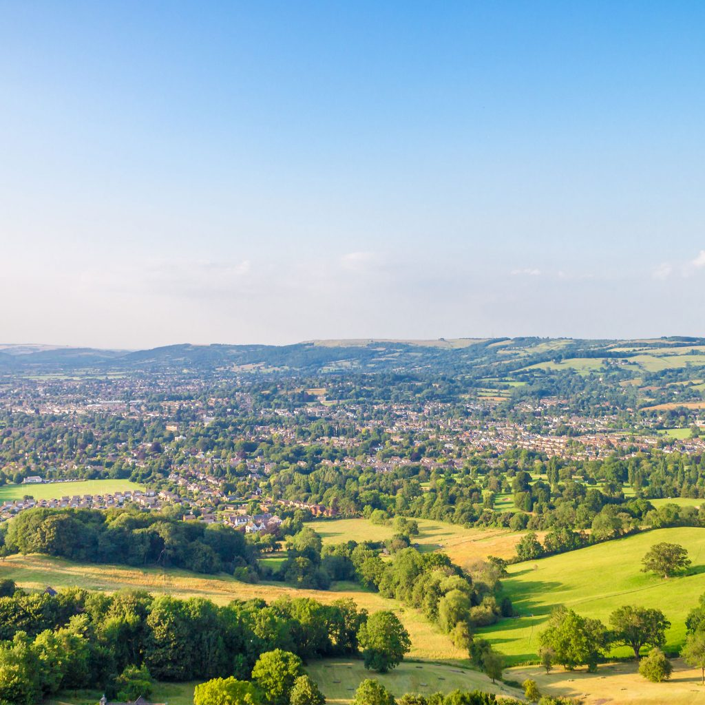 View from Bishops Cleeve, Cheltenham