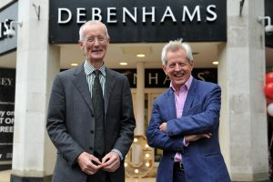 Vice-Chancellor Stephen Marston and MP Richard Graham outside Debenhams. Picture by Mikal Ludlow Photography