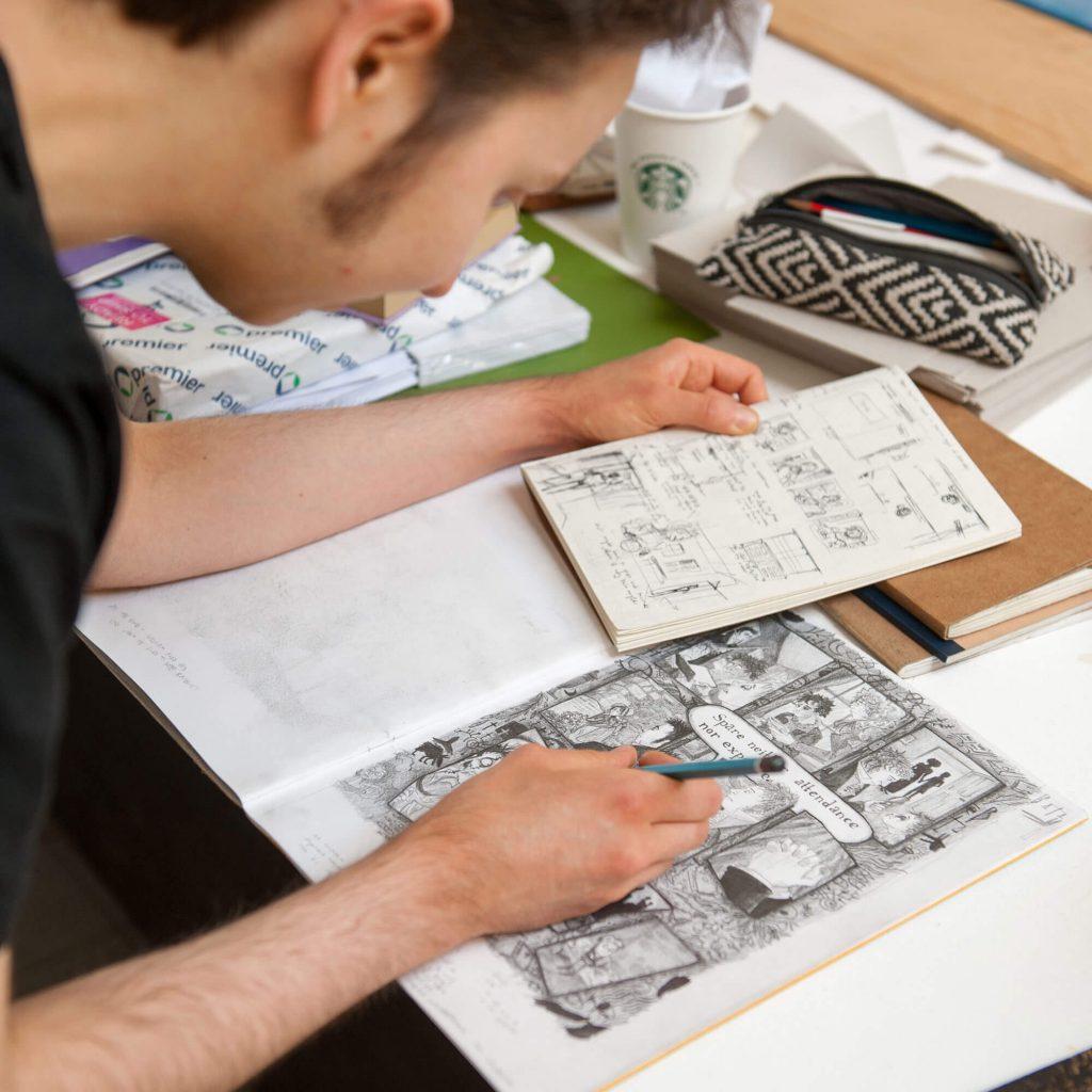 Student illustrating